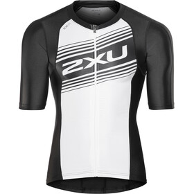 2XU Compression Maillot de triathlon à manches courtes Homme, black/white logo graphic